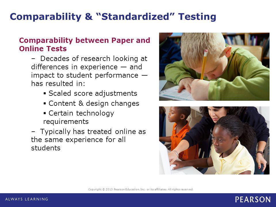 Comparability & Standardized Testing