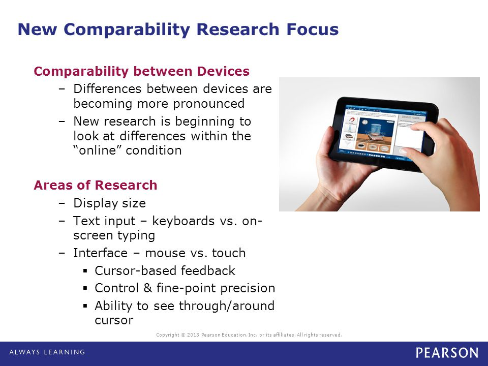 New Comparability Research Focus