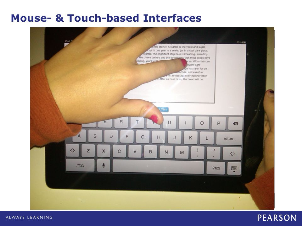 Mouse- & Touch-based Interfaces