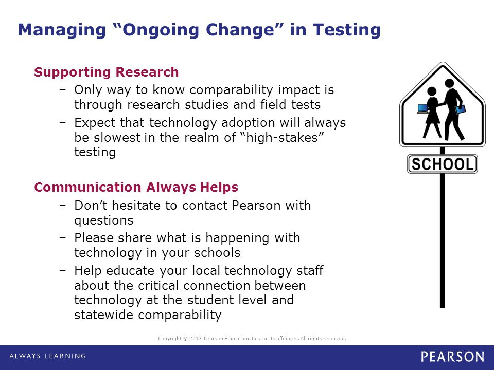 Managing Ongoing Change in Testing