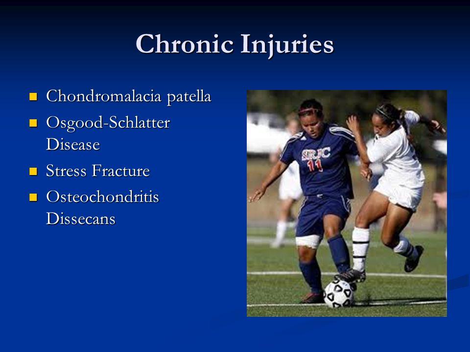Chronic Injuries Chondromalacia patella Osgood-Schlatter Disease