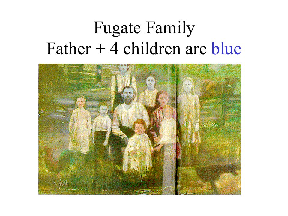 Fugate Family Father + 4 children are blue