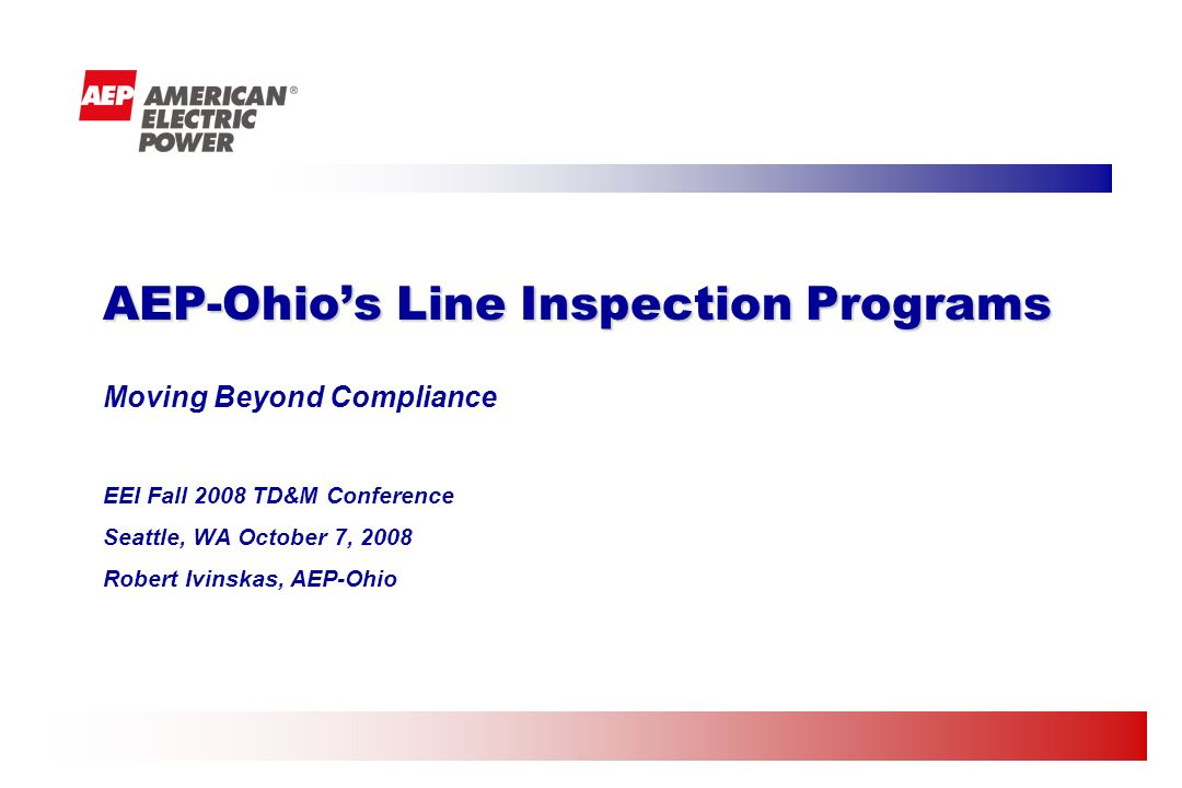 AEP-Ohio's Line Inspection Programs