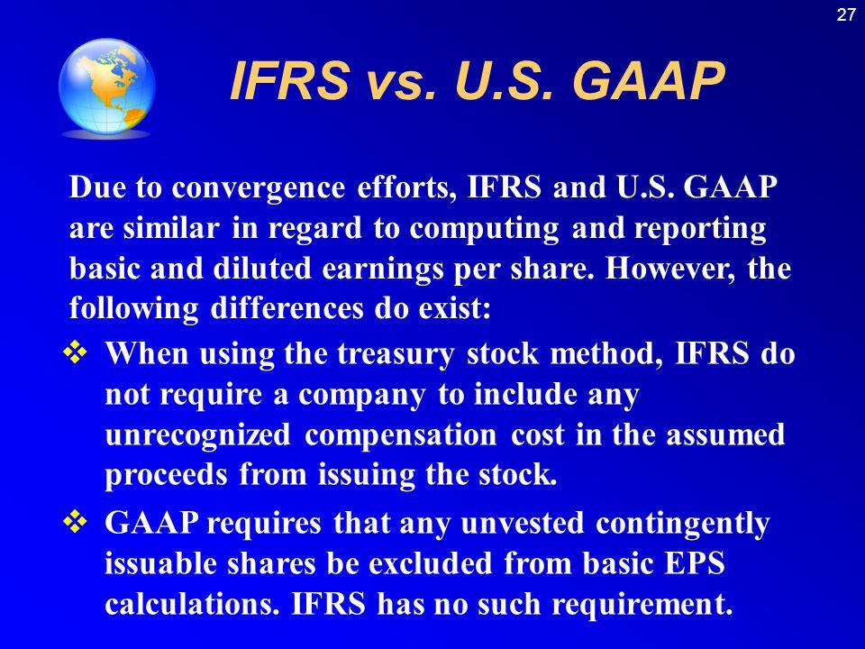 27 IFRS vs. U.S. GAAP.