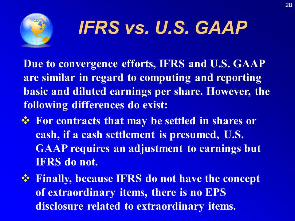 28 IFRS vs. U.S. GAAP.