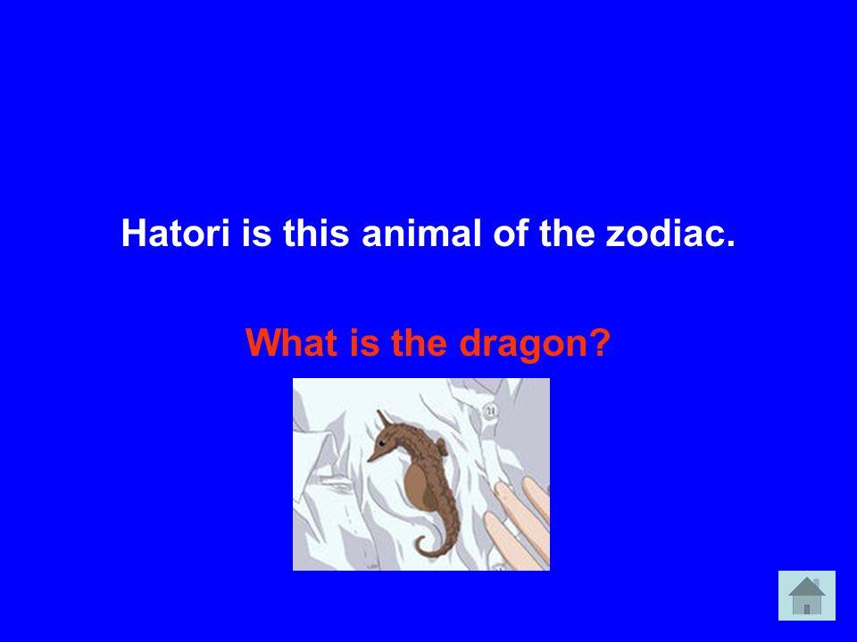 Hatori is this animal of the zodiac.