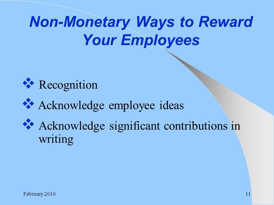 Non-Monetary Ways to Reward Your Employees