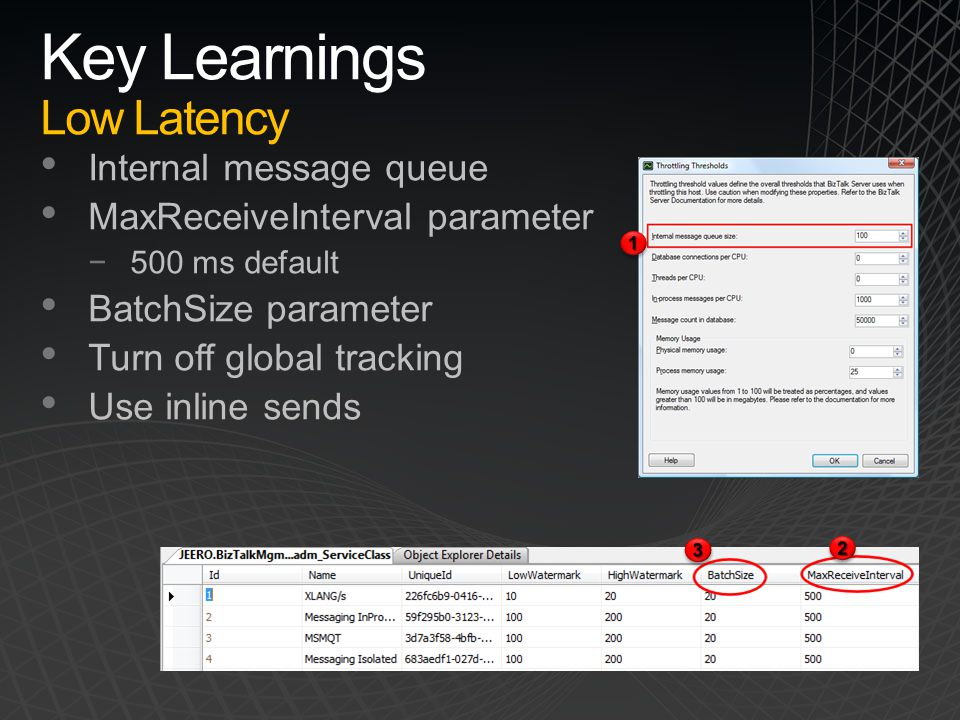 Key Learnings Low Latency