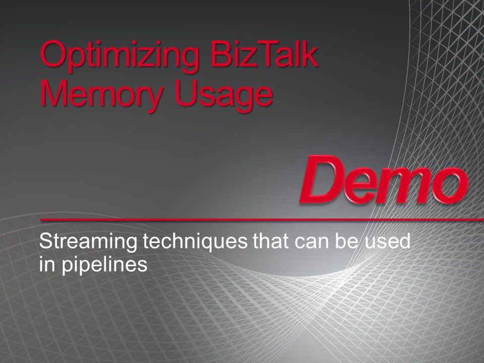 Optimizing BizTalk Memory Usage