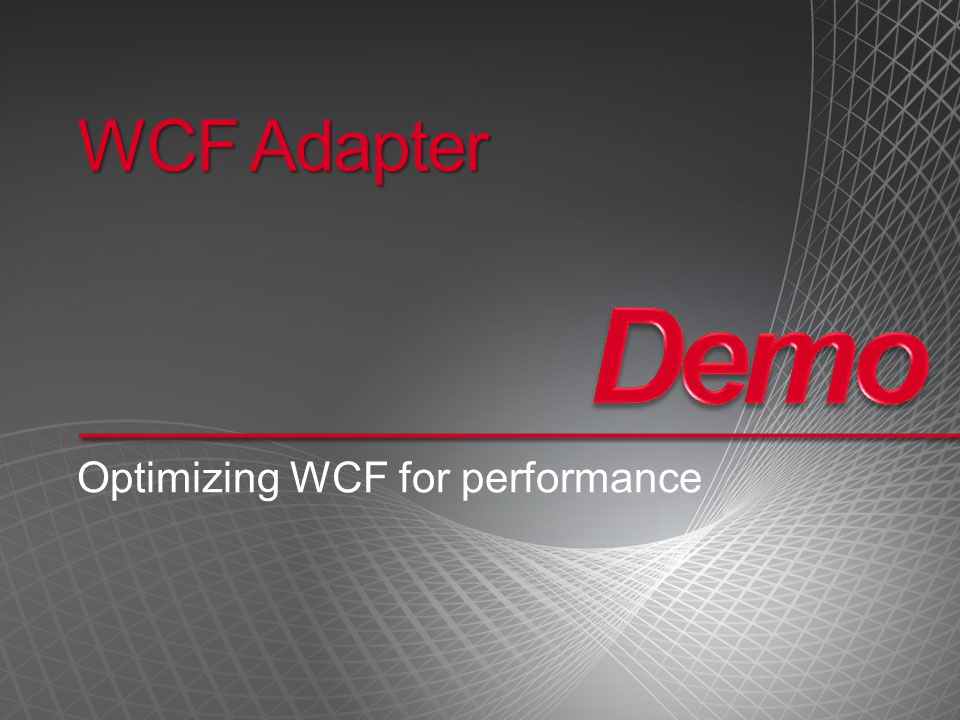 Optimizing WCF for performance