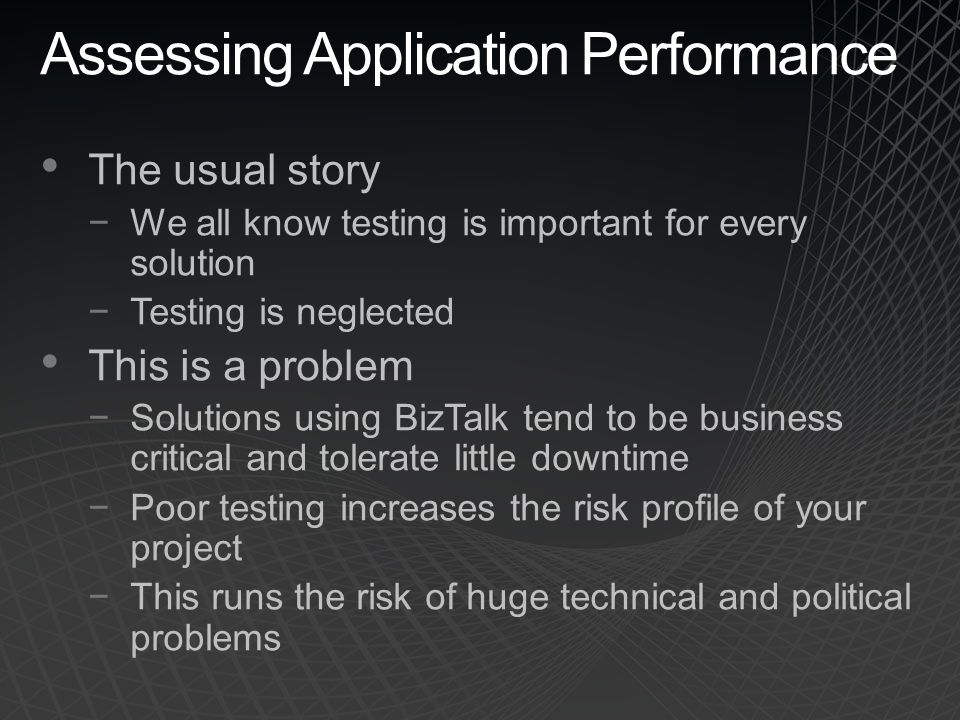 Assessing Application Performance