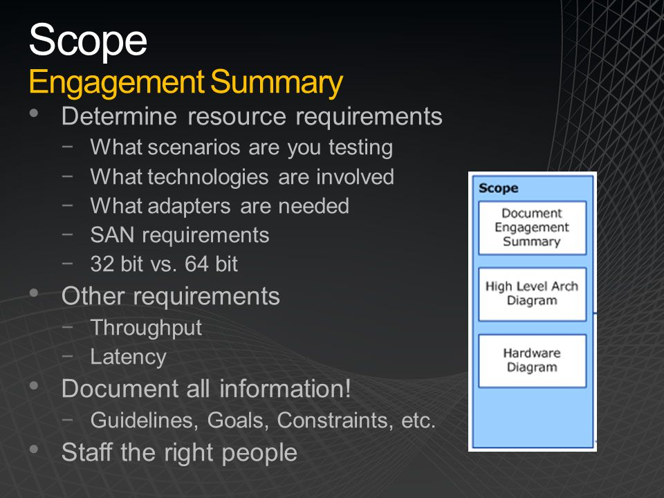 Scope Engagement Summary