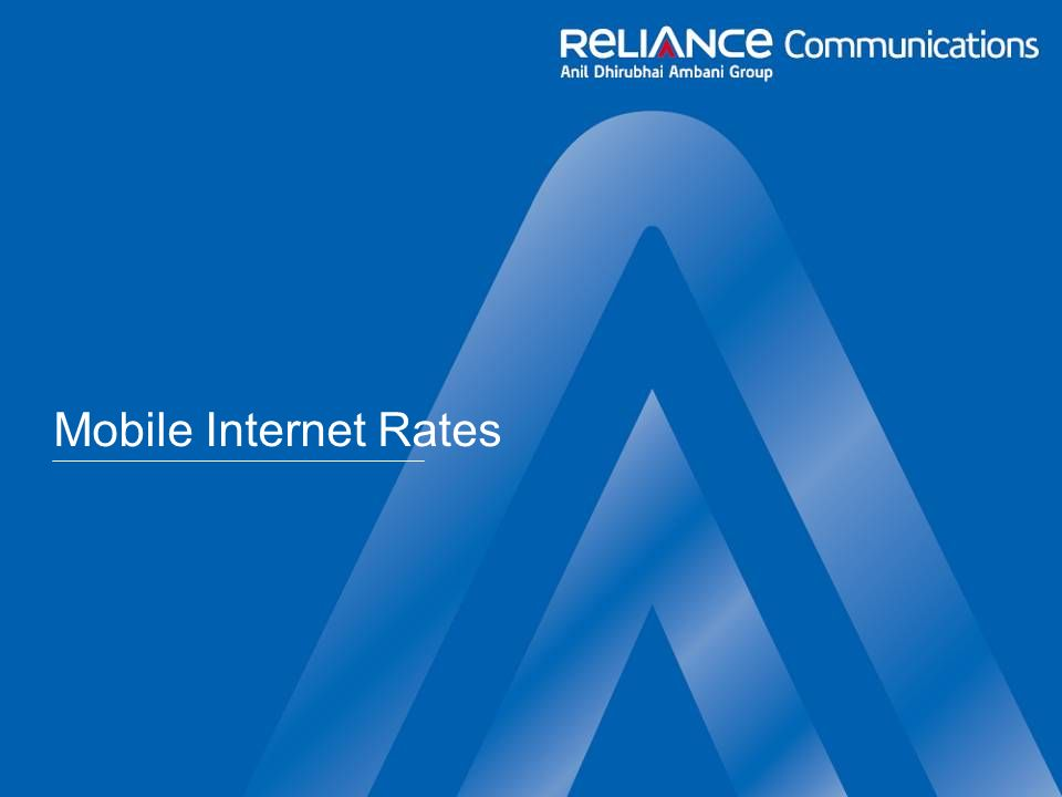 Mobile Internet Rates