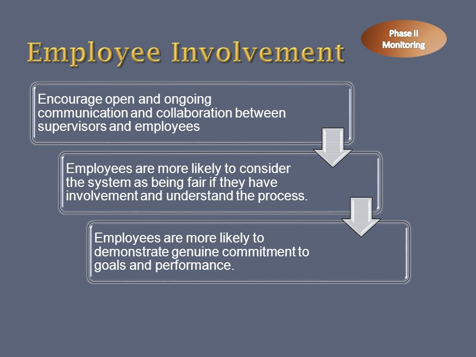 Employee Involvement Phase II Monitoring