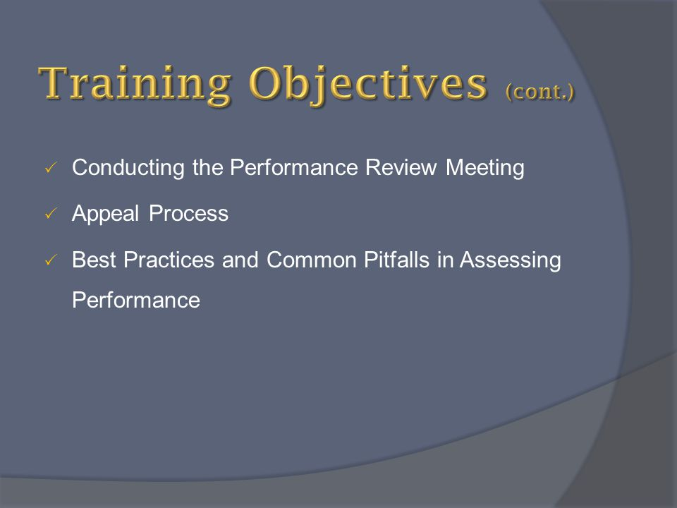 Training Objectives (cont.)