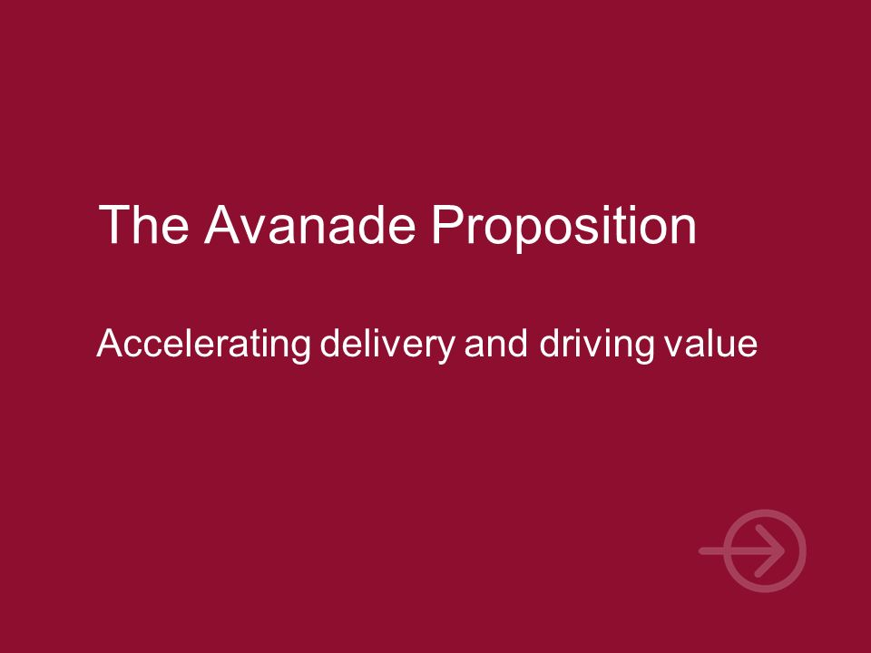 The Avanade Proposition