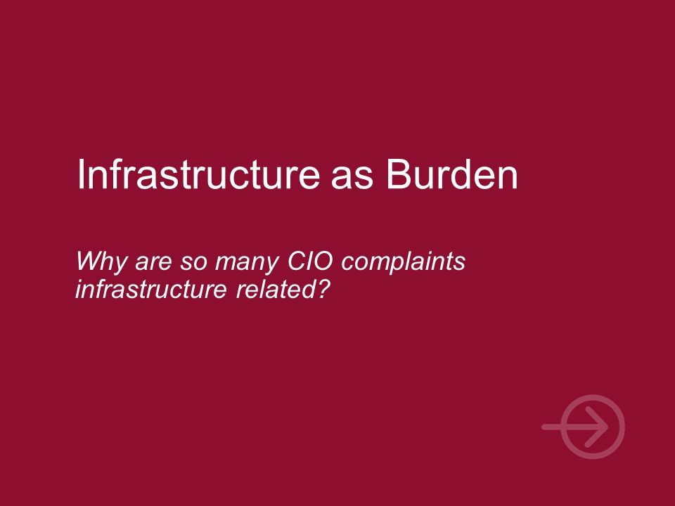 Infrastructure as Burden