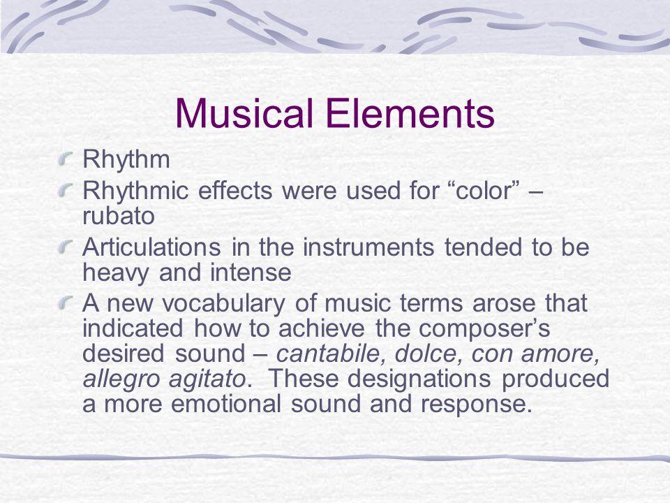 Musical Elements Rhythm