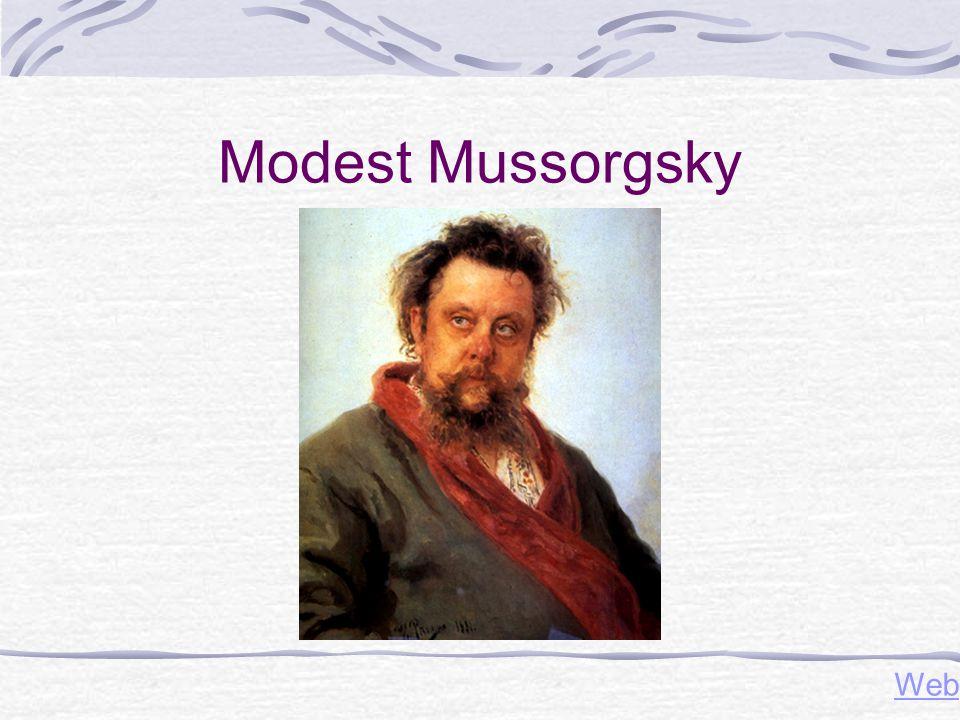 Modest Mussorgsky Web