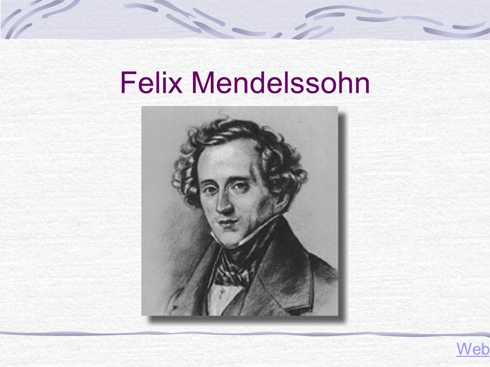 Felix Mendelssohn Web