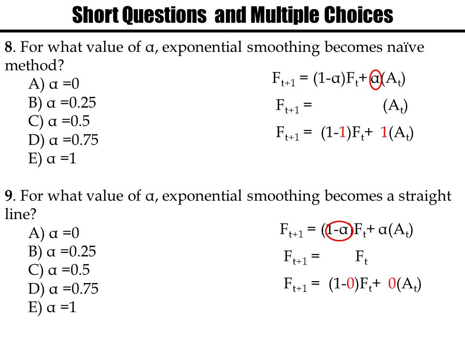 Short Questions and Multiple Choices