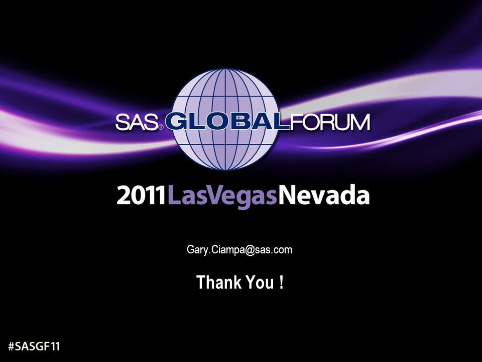 Gary.Ciampa@sas.com Thank You !