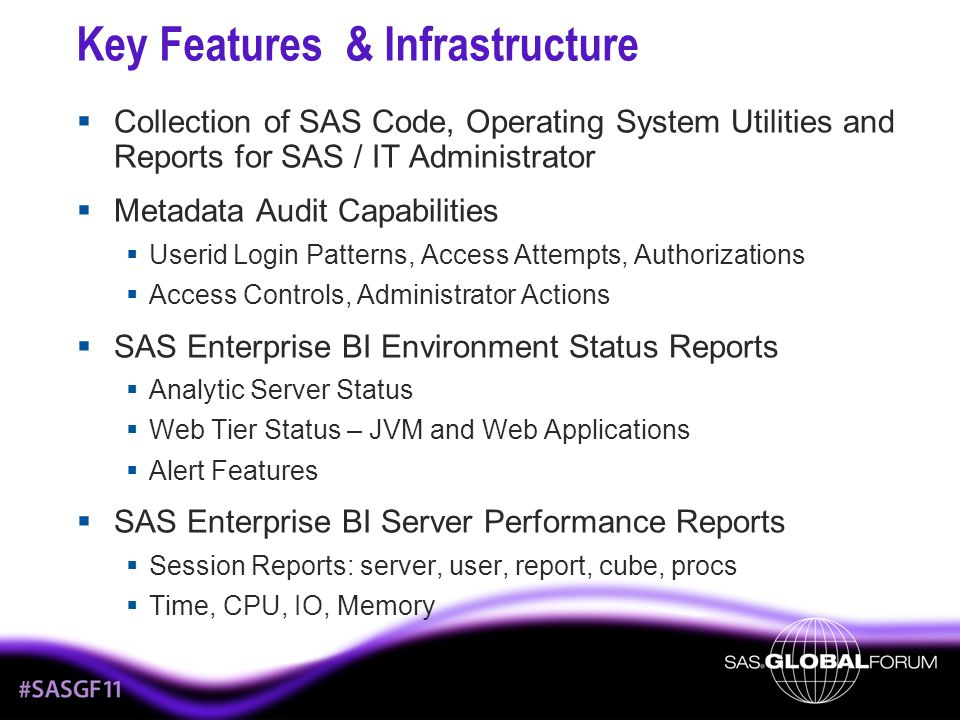 Key Features & Infrastructure