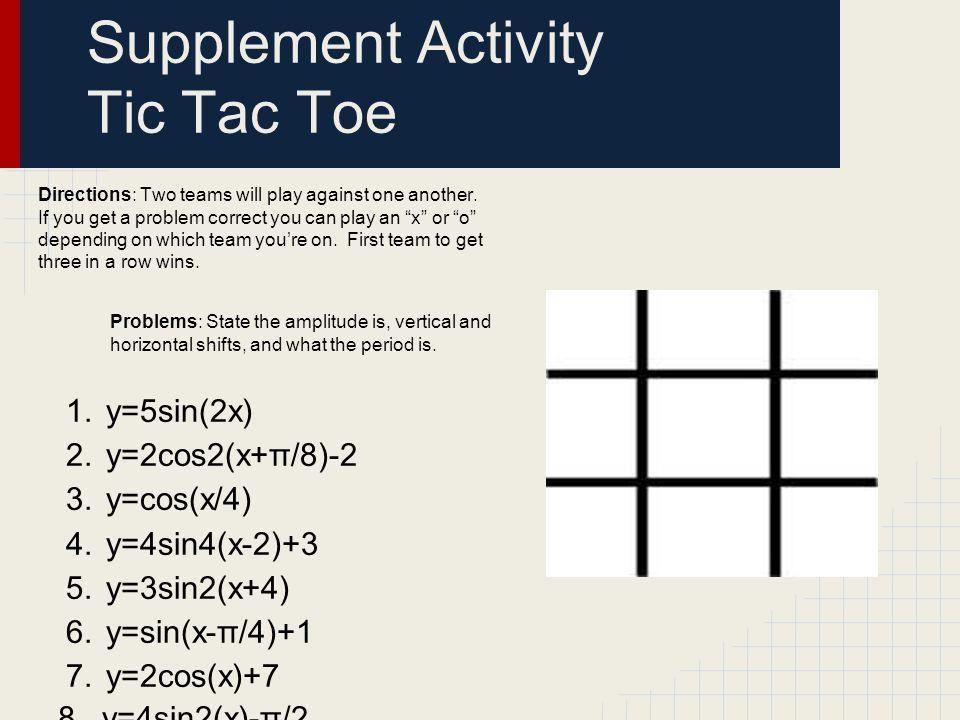 Supplement Activity Tic Tac Toe