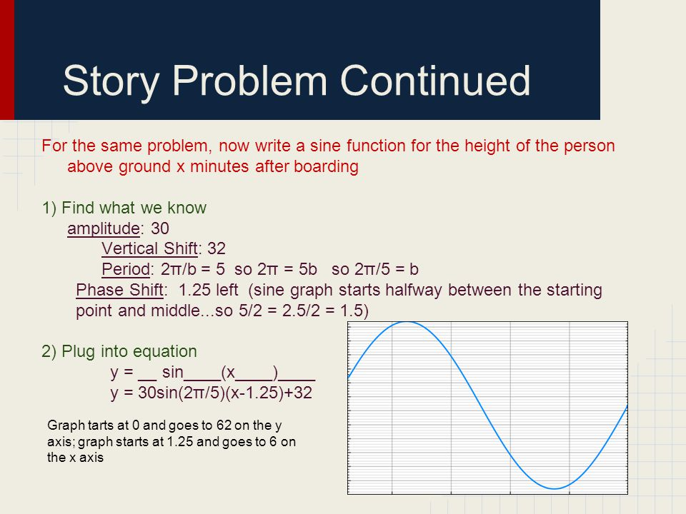 Story Problem Continued