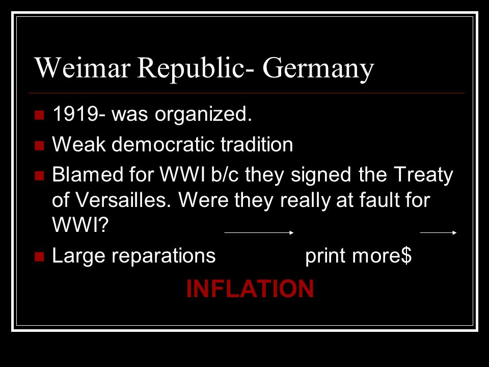 Weimar Republic- Germany