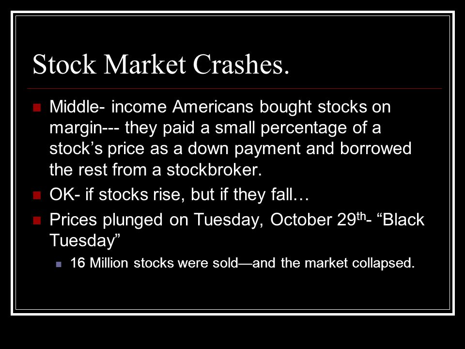 Stock Market Crashes.