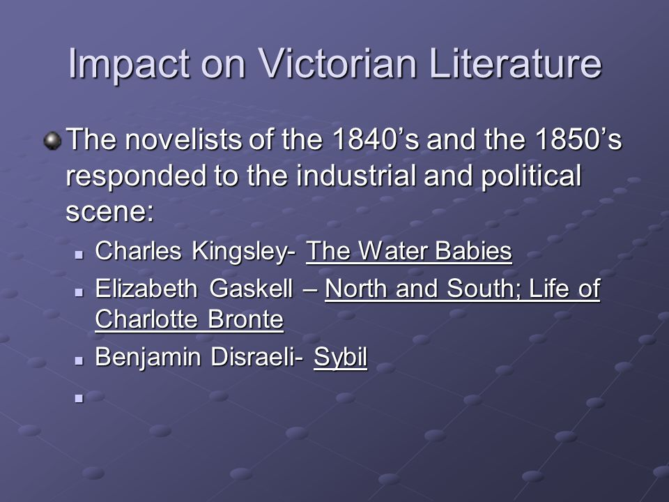 Impact on Victorian Literature