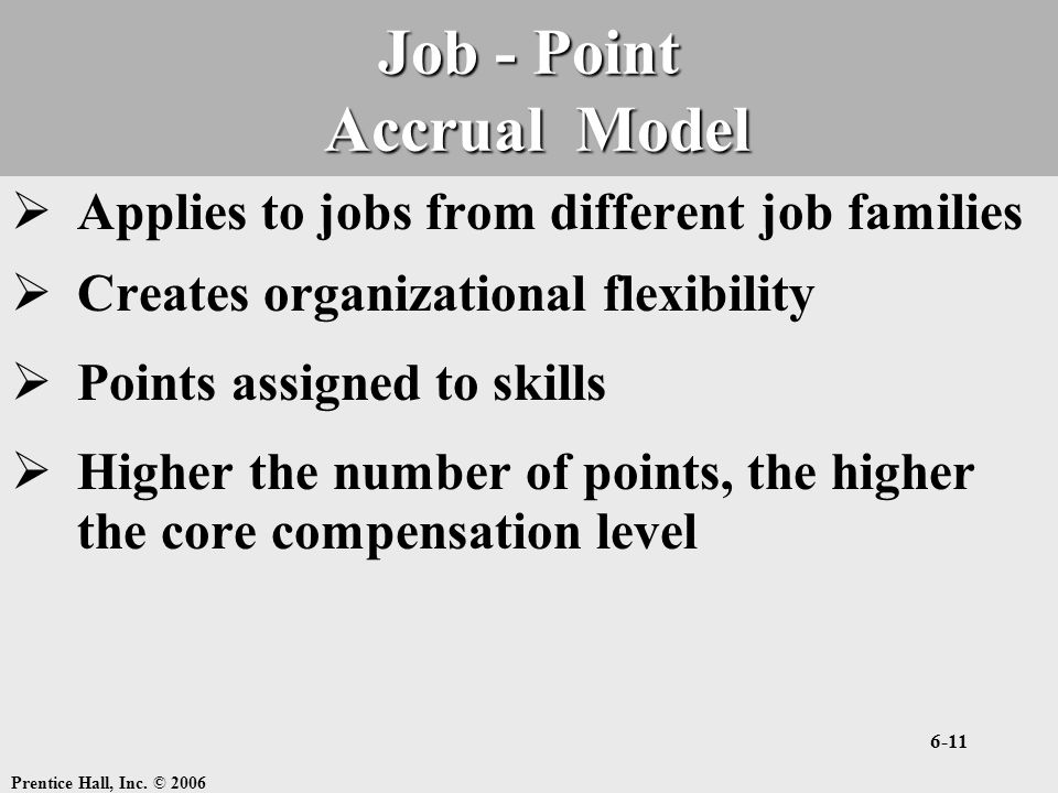 Job - Point Accrual Model