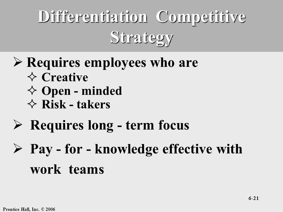 Differentiation Competitive Strategy