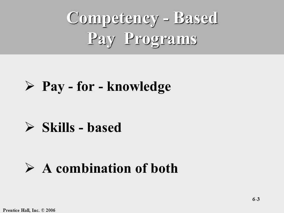 Competency - Based Pay Programs