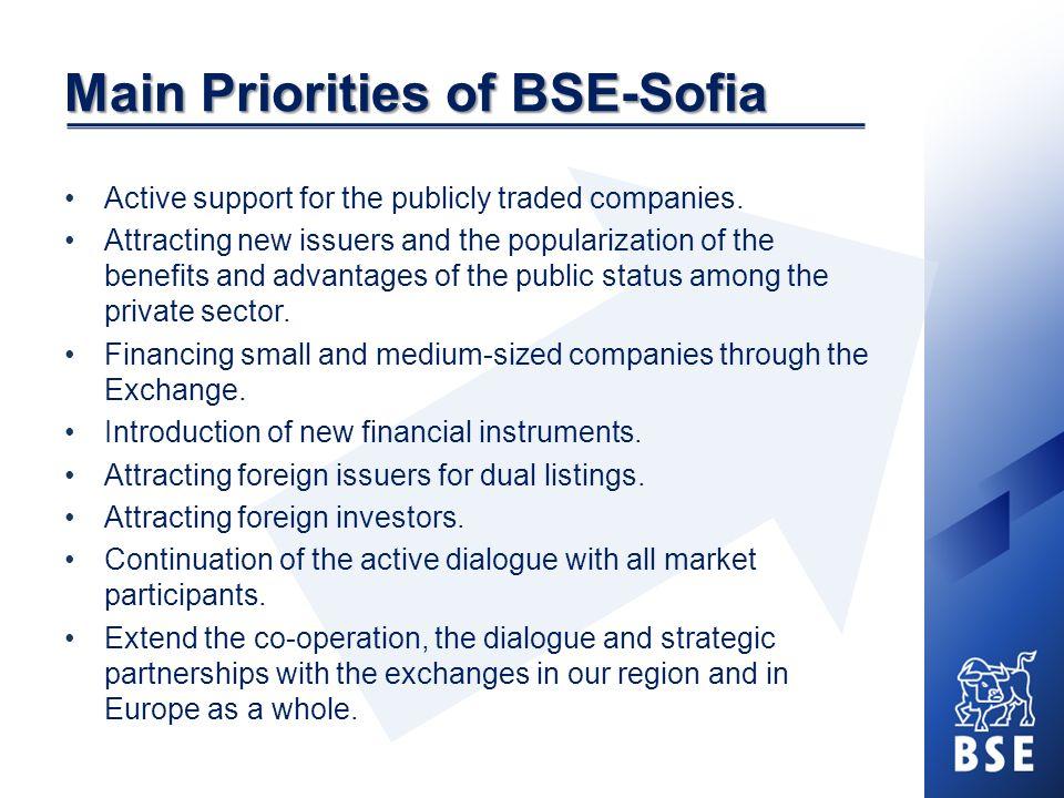 Main Priorities of BSE-Sofia