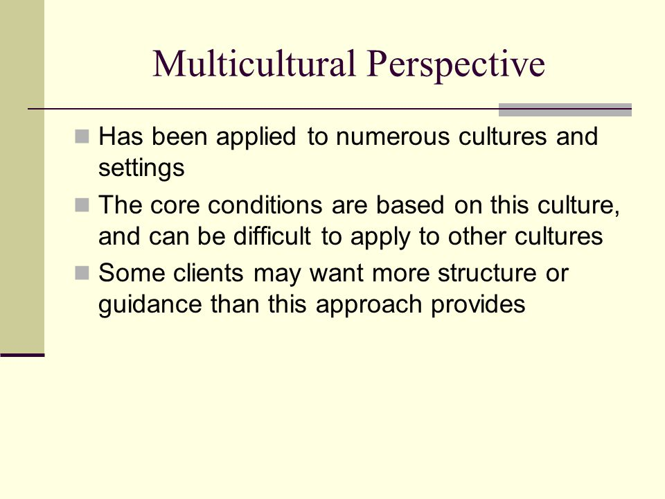 Multicultural Perspective