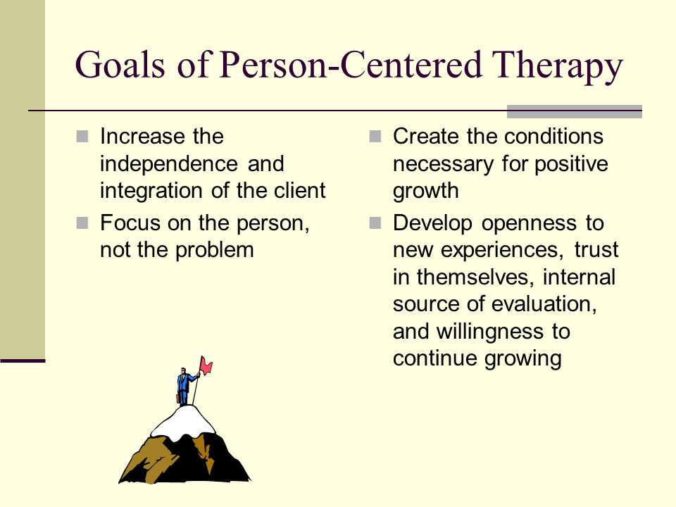 Goals of Person-Centered Therapy