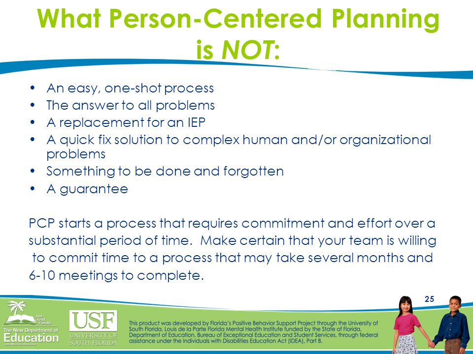 What Person-Centered Planning is NOT: