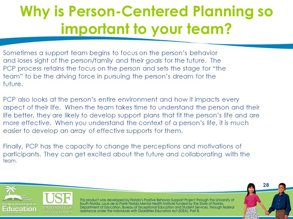 Why is Person-Centered Planning so important to your team