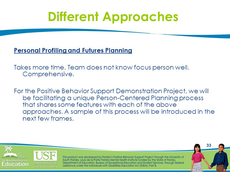 Different Approaches Personal Profiling and Futures Planning