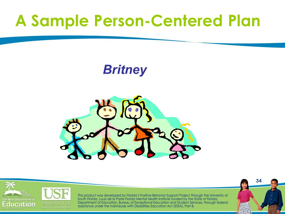 A Sample Person-Centered Plan