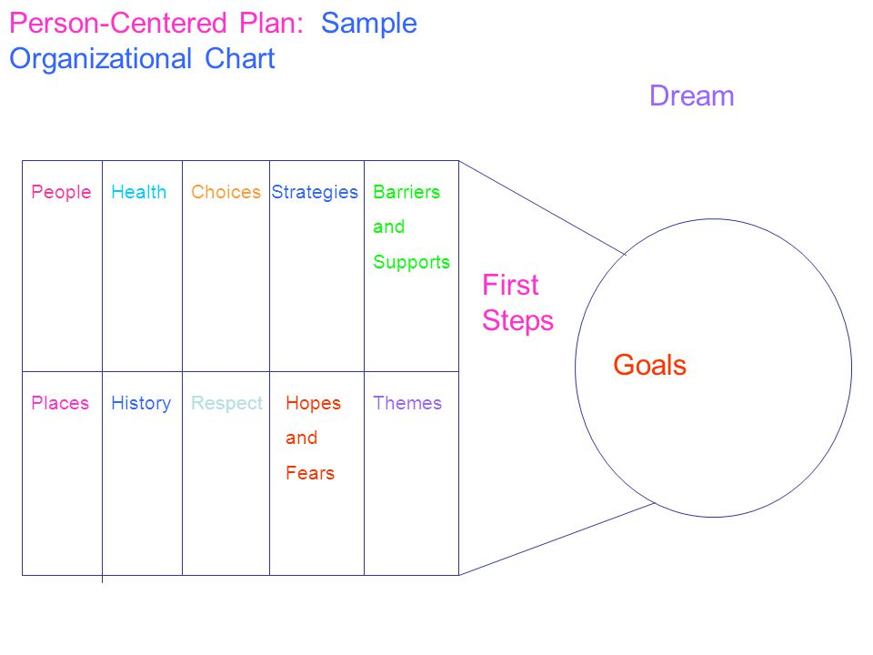 Person-Centered Plan: Sample Organizational Chart