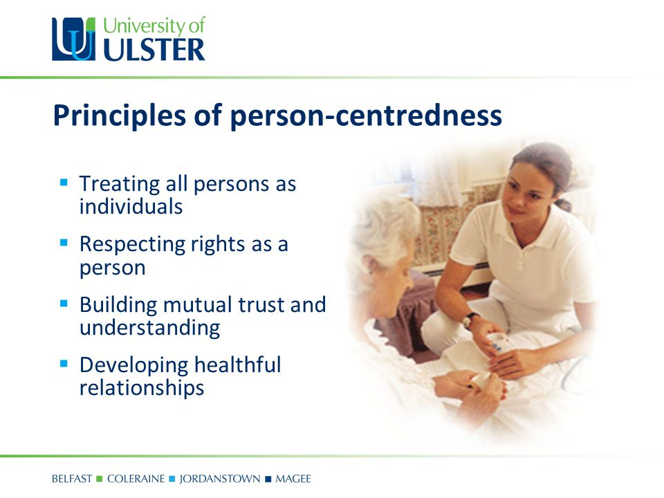 Principles of person-centredness