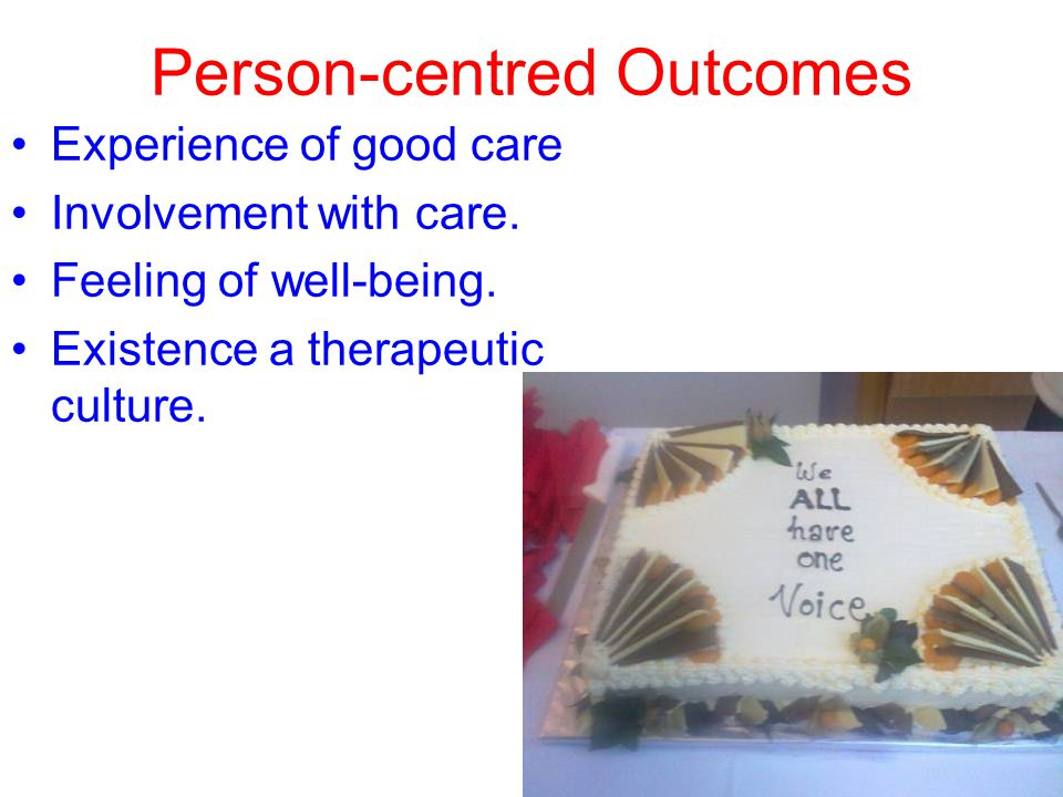 Person-centred Outcomes