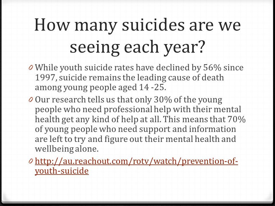 How many suicides are we seeing each year