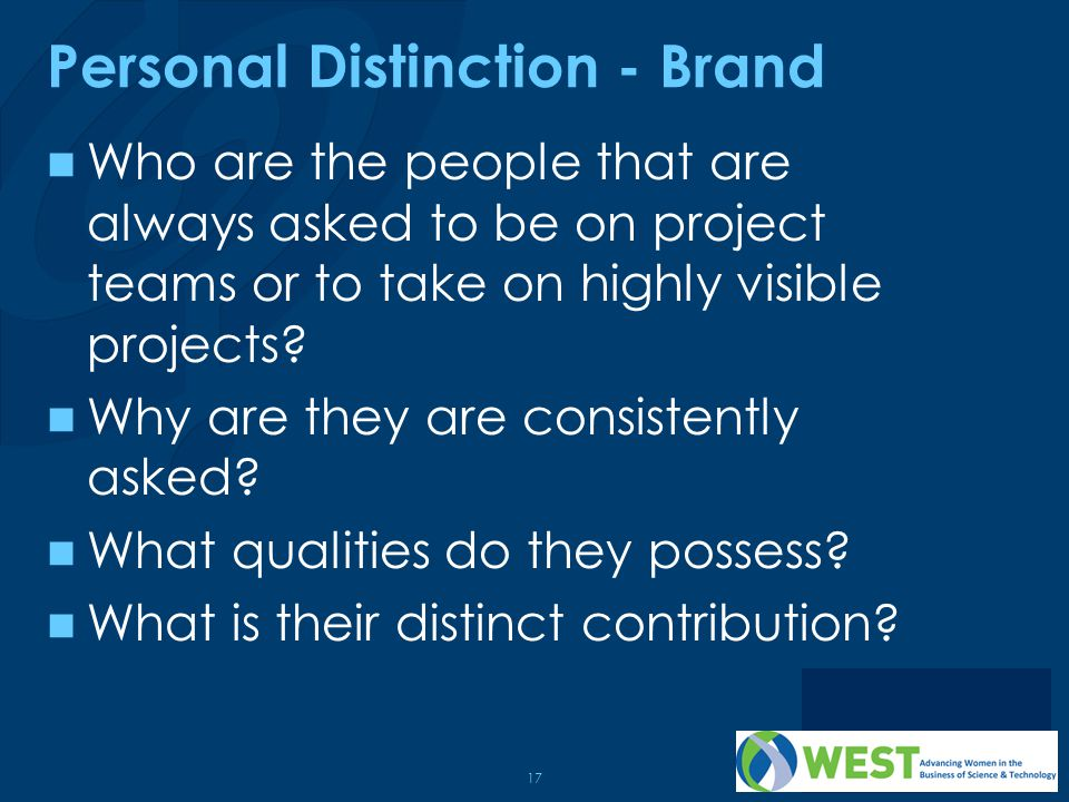 Personal Distinction - Brand