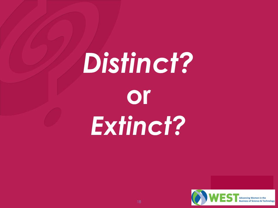 Distinct or Extinct Question: Why should we worry about this