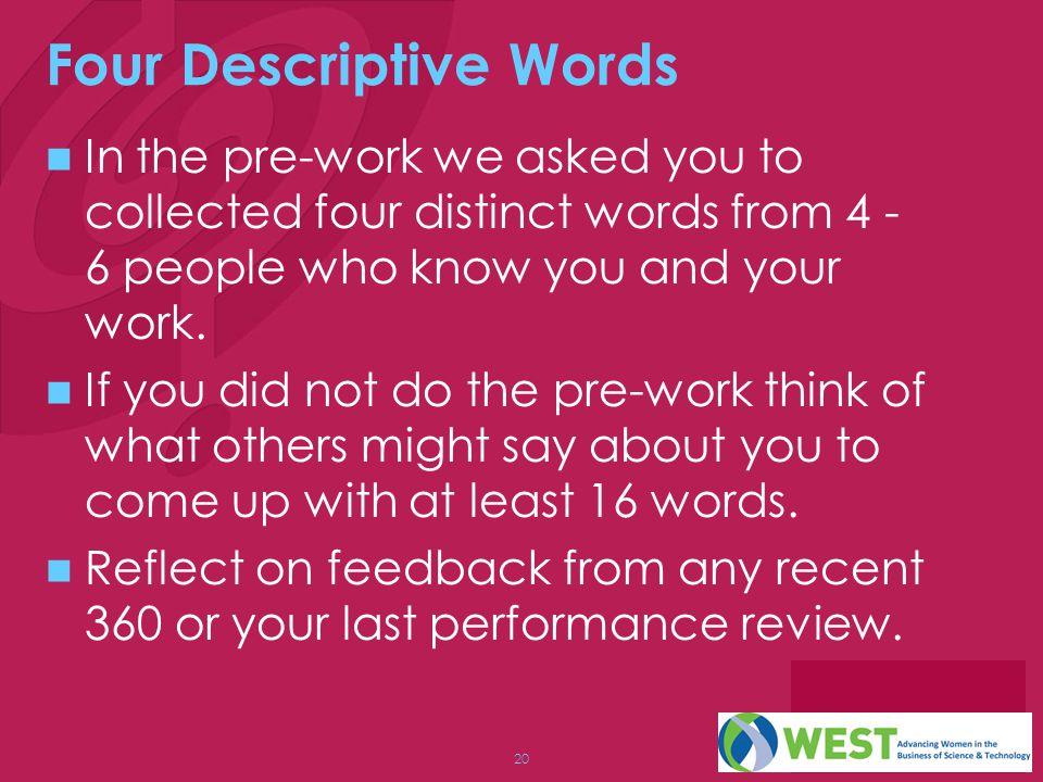 Four Descriptive Words