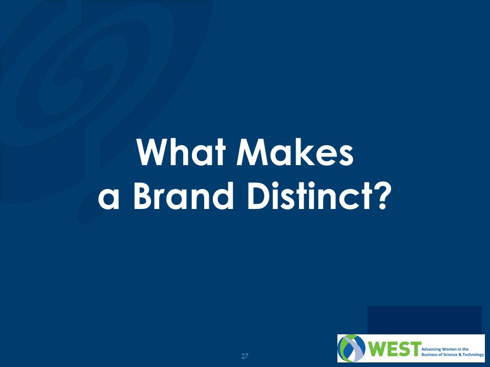 What Makes a Brand Distinct